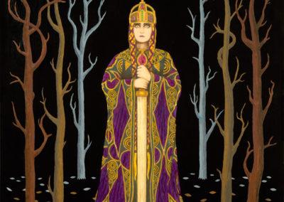 """Kriemhild's Revenge 2"" 2013. Acrylic, 18""x24"" by Scott Kimball"