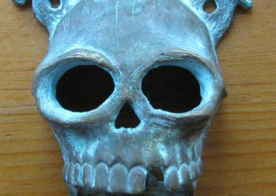 Bronze Pirate Skull Face