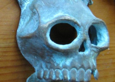 Bronze Pirate Skull Side
