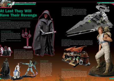 "Star Wars Insider Magazine, ""Jabba's Collection"" feature layout by Scott Kimball"