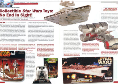 "Star Wars Insider Magazine, ""Scouting the Galaxy"" feature layout by Scott Kimball"