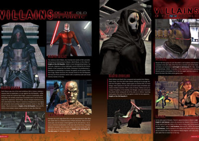 "Star Wars Insider Magazine, ""Villains"" feature layout and Tavion screen captures by Scott Kimball"