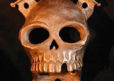 Bronze Pirate Skull New