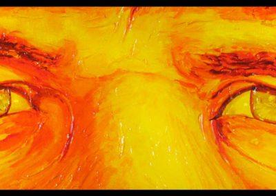 """""""Harmonica 2"""" 2011. Acrylic, 30""""x10 by Scott Kimball"""