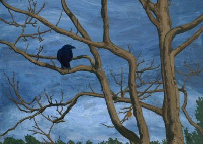 """Crow Tree"" 2012. Acrylic, 24""x18"" by Scott Kimball"