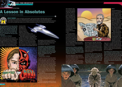 "Star Wars Insider Magazine, ""Ask the Master"" feature layout and illustrations by Scott Kimball"