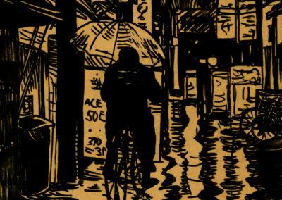 Ink illustration by Scott Kimball